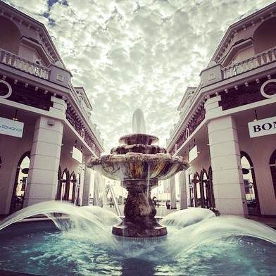 Fountain  in Fashion park outlet - Indjija (Serbia)