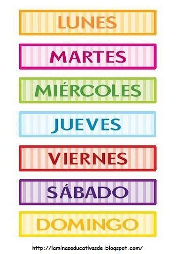 dias semana - Resultados de Yahoo España en la búsqueda de imágenes