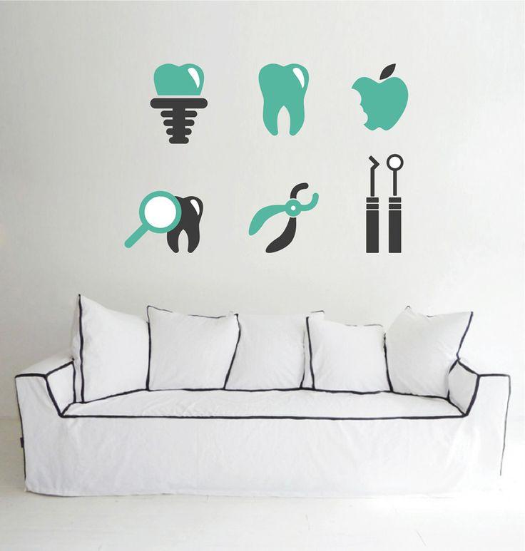 cik1523 Full Color Wall decal Services teeth dentist dental surgery Clinic Hospital