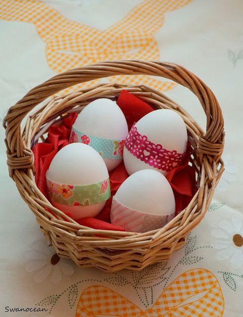 Swanocean: Decorating Easter eggs with washi tape-Διακοσμώντας τα Πασχαλινά αυγά με διακοσμητικές ταινίες