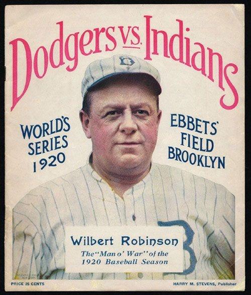 Cleveland Indians first World Series Championship 1920 World Series Program