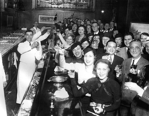 Chicagoans celebrate the repeal of Prohibition at the Congress Hotel on December 8, 1933. From the PBS page for Prohibition, the new Ken Burns documentary.