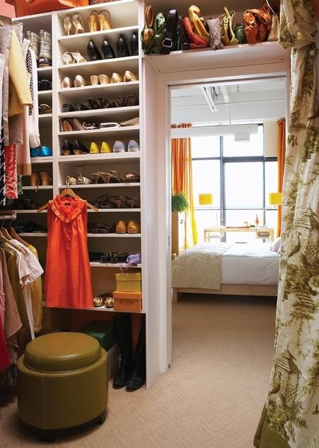 walk-in closet beside my bedroomIdeas, The Doors, Closets Doors, Closets Organic, Shelves, Master Closet, Shoes Storage, Dreams Closets, Closets Spaces