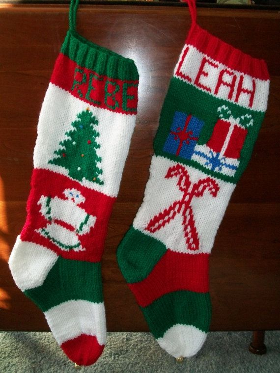 130 best Knitted Christmas Stockings images on Pinterest | Hand ...