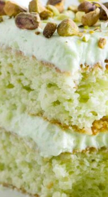 Coconut and Pistachio Pudding Cake