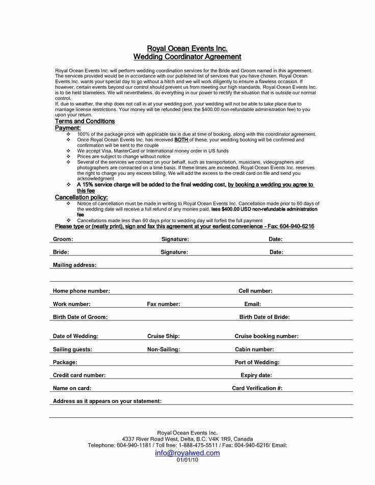 Wedding Coordinator Contract Awesome Wedding Planner Contract Sample Templates Event Planning Contract Event Planning Quotes Event Planning Business Cards