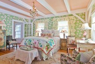 """Cottage Chambre des maîtres avec la peinture, la hauteur standard, double-fenêtre à guillotine, chonbek Bordeaux 22 """"Wide coloré Crystal Chandelier"""