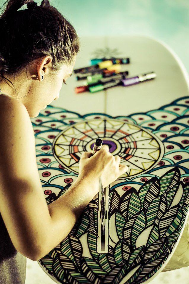 Mais de 50 desenhos em pranchas de surf                              …                                                                                                                                                                                 Mais