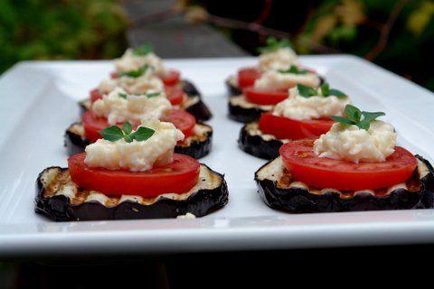 Grilled eggplant appetizer