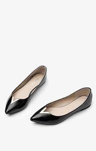 V-style Balerinki w szpic czarne