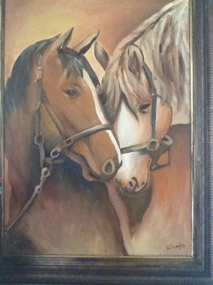 Atlar 50 x70 Yağlı boya Fiyatı : 1250 İletişim 539-887-90-93