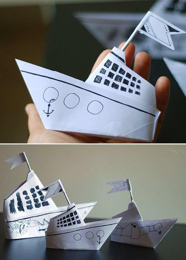 bateau origami pinterest origami. Black Bedroom Furniture Sets. Home Design Ideas