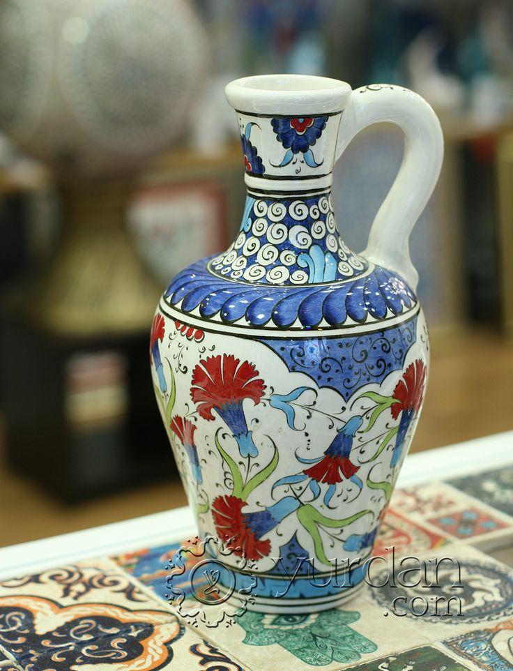 Iznik Design Ceramic Jug