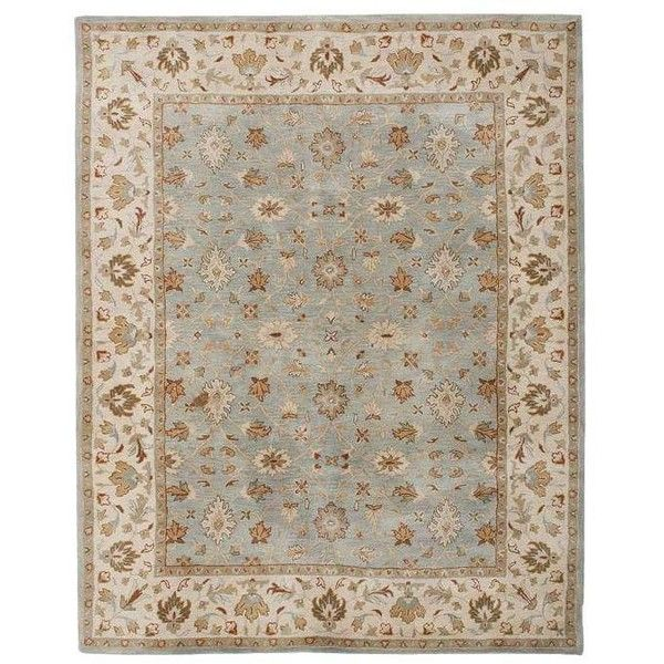 Pottery Barn Malika Persian Style Rug - 8′ × 10′ ($325) ❤ liked on Polyvore featuring home, rugs, persian rugs, persian wool rugs, pottery barn rugs, neutral area rugs and persian area rugs
