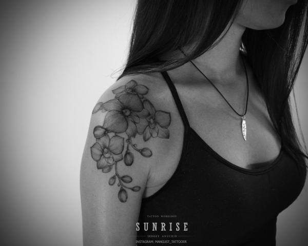 Orchid tattoo | Татуировки, эскизы и тату-мастера России, Украины, Беларуси и из всего бывшего СССР