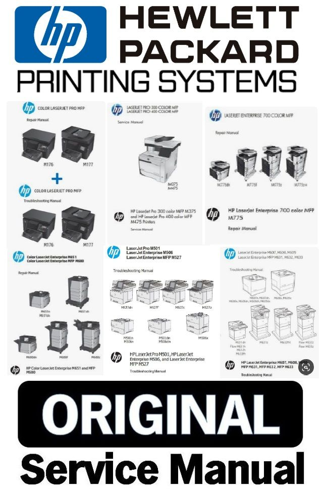 Hp Hewlett Packard Printers Service Manual And Repair Instructions Repair Guide Manual Hp Printer