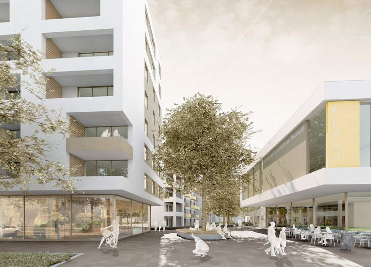 Elegant Architekturwettbewerb Breisacher Hof Freiburg Visualisierung