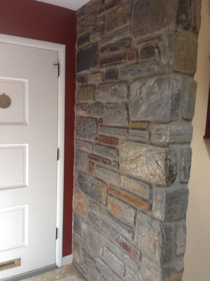 Exposed brick inside house.