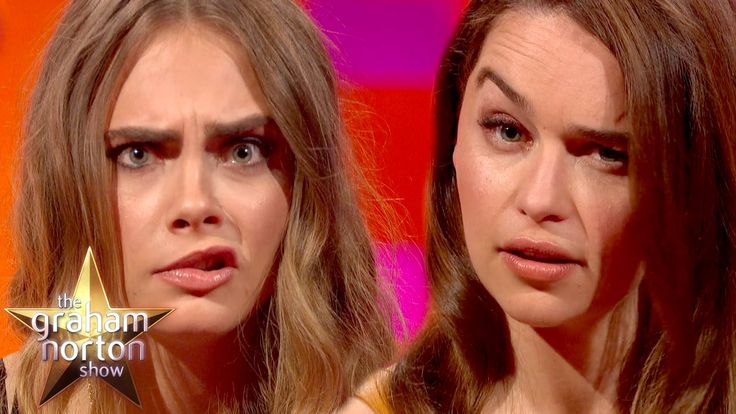 Cara Delevingne and Emilia Clarke Have An Eyebrow-Off - The Graham Norto...