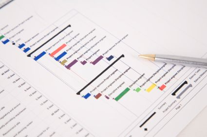 11 best charts graphs and diagrams images on pinterest graphics printout of a project plan gantt chart with pen resting on the paper ccuart Images