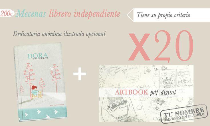 Recompensas para los mecenas libreros de Dora. http://vkm.is/Dora