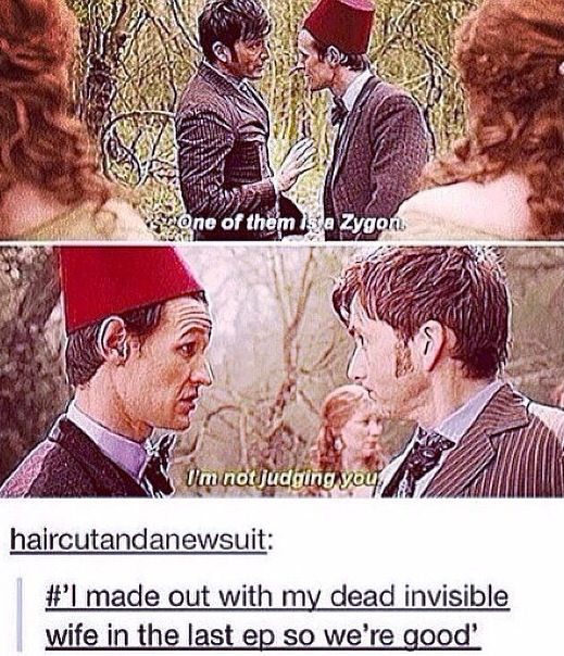 Hahahahahaa and yesssss omfg YOWZA my OTP i screamed when that happened. Only in doctor who though seriously