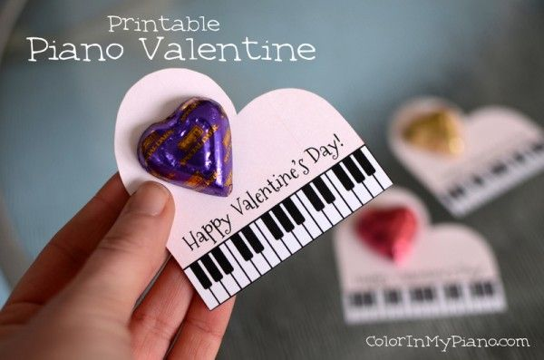 Piano-themed Valentine -- FREE printable!