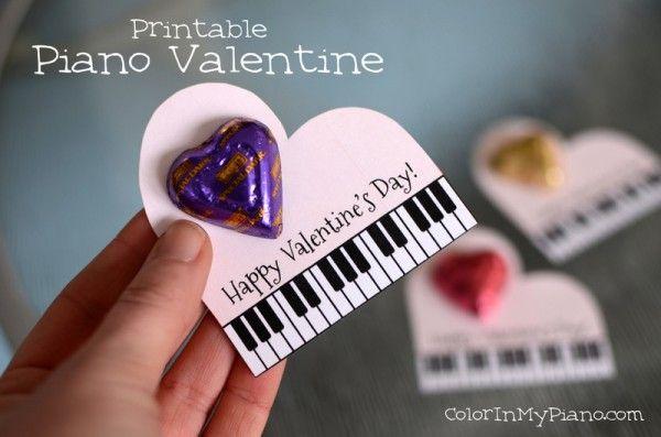 Piano-themed Valentine -- FREE printable!