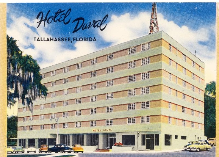 Post Card of Original Hotel Duval, (Elton Carl Allen)