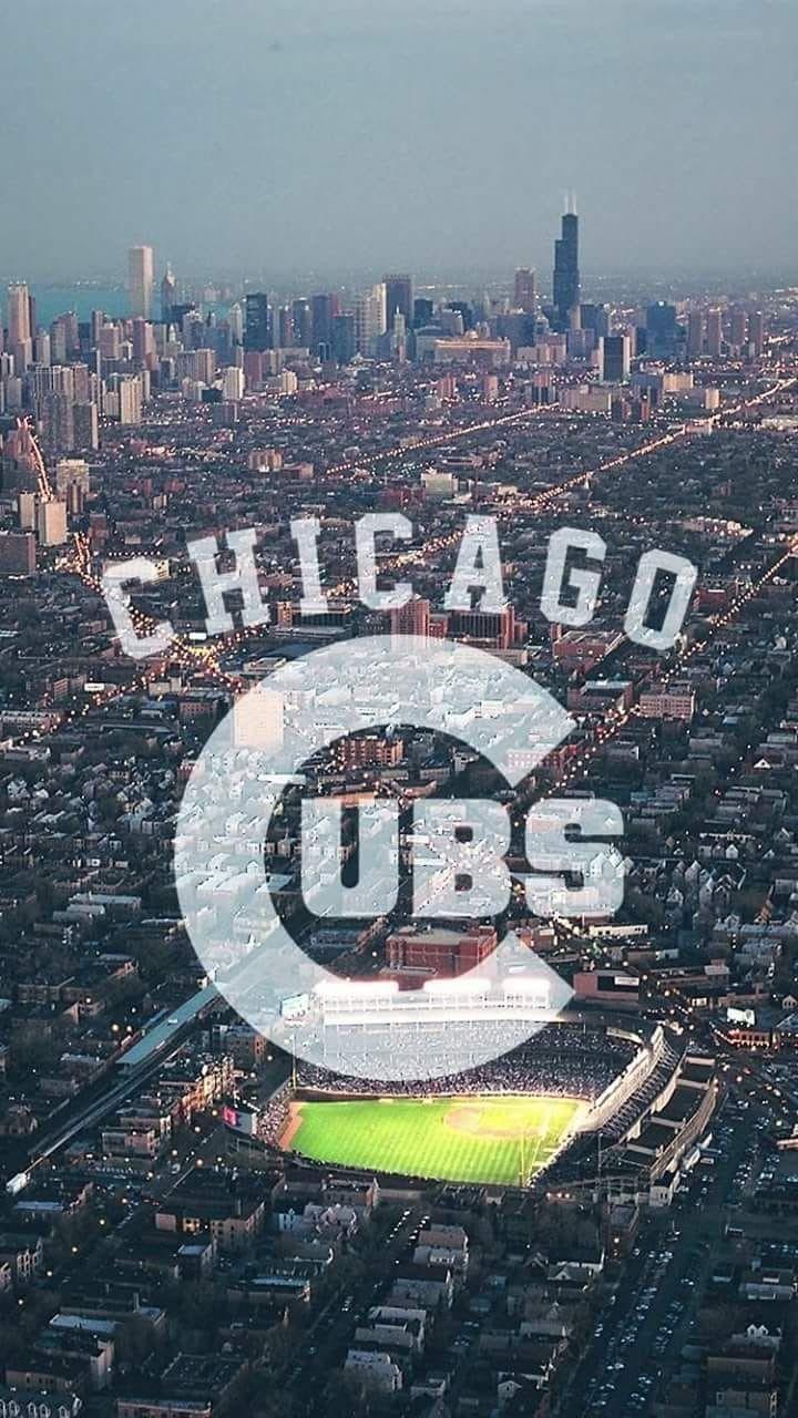Cubs Skyline Chicago Cubs Wallpaper Cubs Wallpaper Chicago