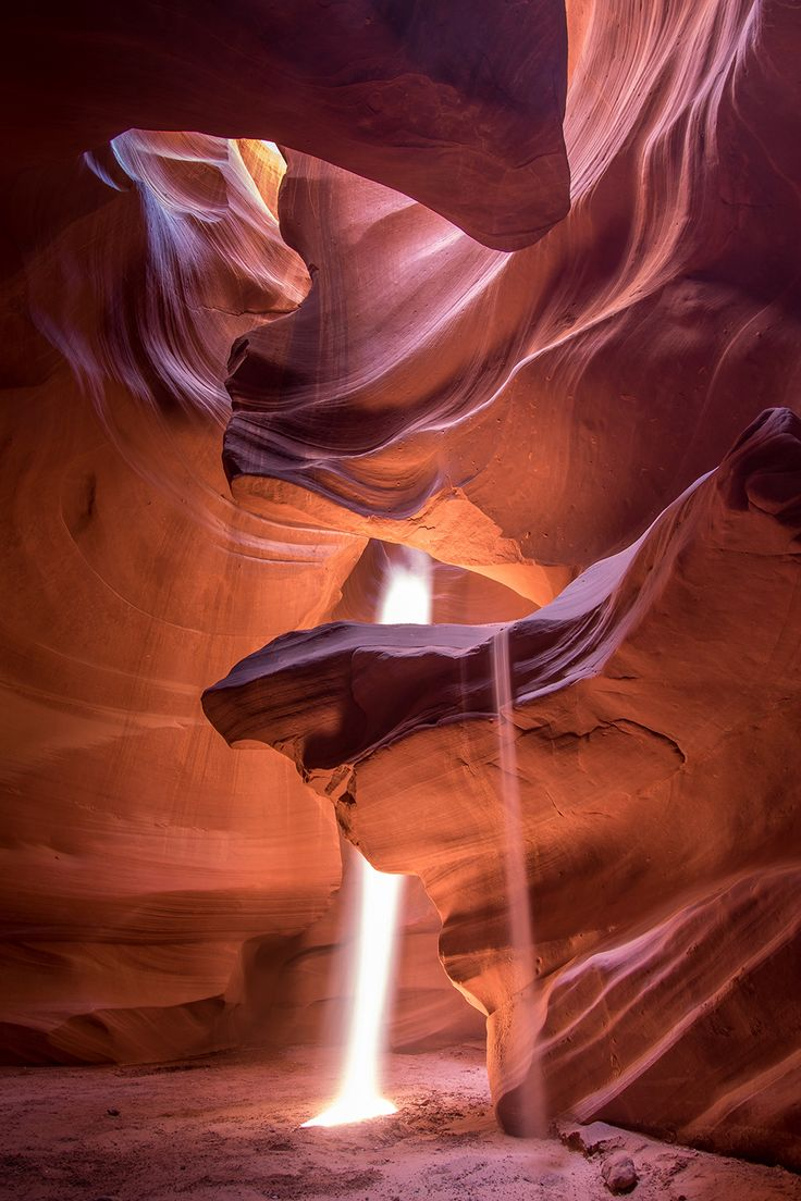 Travel to upper antelope canyon in Page, Arizona to see spectacular light beams in the sandstone slot canyon walls. Page is on the edge of Utah and makes a great adventure destination if you\'re visiting the Grand Canyon or Horseshoe bend overlook nearby. Visit Arizona, Arizona Travel, Arizona Usa, Page Arizona, Grand Canyon Arizona, Sedona Arizona, Amazing Photography, Landscape Photography, Travel Photography