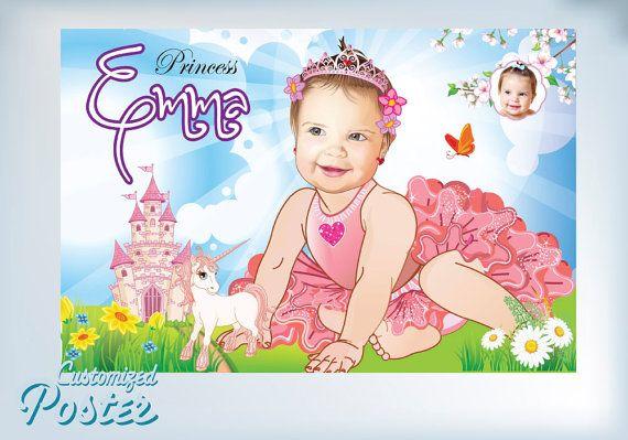 Baby Girl Little Princess. Artistic Cartoon like by MyHeroAtHome