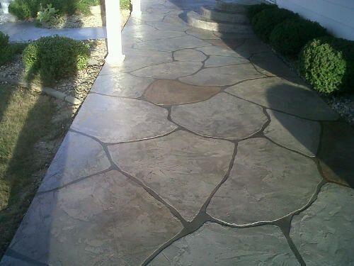 45 best patio designs images on pinterest   patio ideas, stamped ... - Cement Patio Flooring Ideas