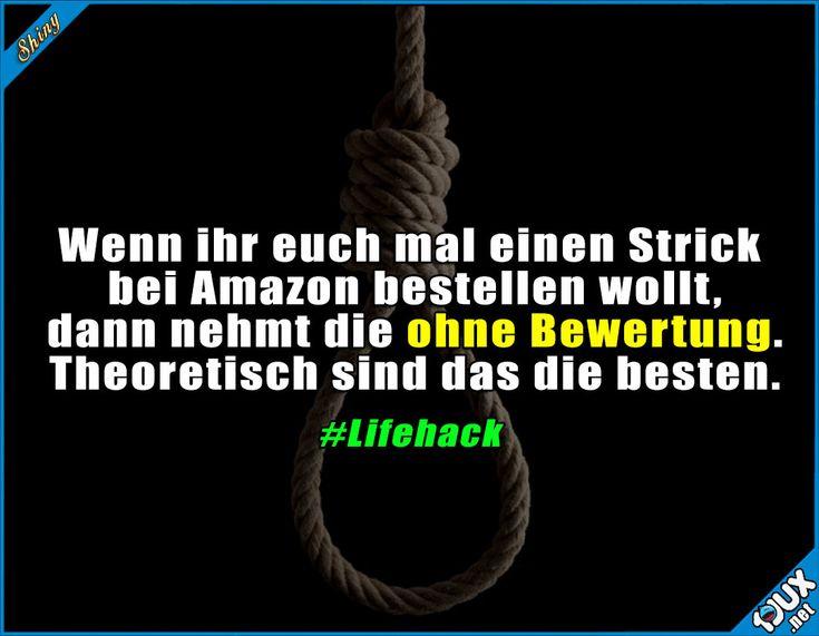 Lifehack oder Deathhack? ^^' #schwarzerHumor #Humor #Spaß #lustig #Sprüche #Lifehack