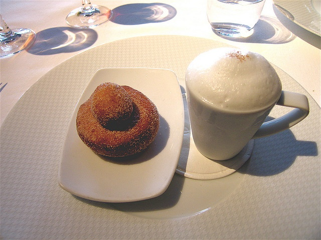 "Per Se ""Coffee and Doughnuts""–Cinnamon-Sugared Doughnuts with Cappuccino ""Semifreddo"""