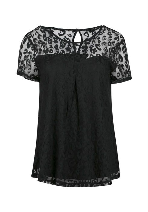 Ladies Animal Lace Top