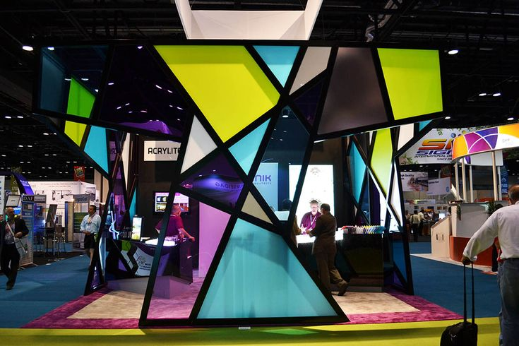 ACRYLITE® acrylic panels for Evonik's Tradeshow booth  www.acrylite-shop.com?expa=pinterest.exhibits