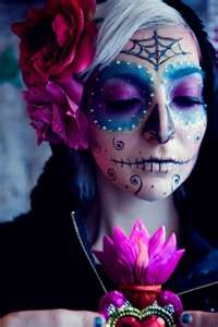 day of the dead: Dead Makeup, Halloween Costumes, Body Paintings, Of The, Sugar Skull Makeup, Dead, Paintings Faces, Day, Halloween Ideas