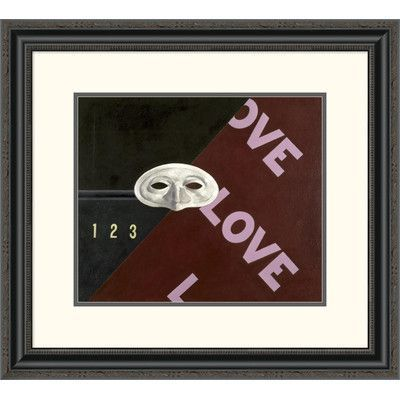 """Global Gallery 'Love, Love, Love' by Charles Demuth Framed Painting Print Size: 35.26"""" H x 40"""" W x 1.5"""" D"""
