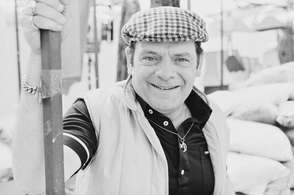 English actor David Jason posed in character as Derek 'Del Boy' Trotter from the British television sitcom 'Only Fools and Horses' in London on 3rd...