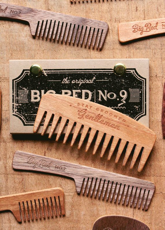 This listing is for 1 Cherry No.9 Beard Comb    Introducing the Big Red No.9. Designed with longer thicker teeth and increased spacing between