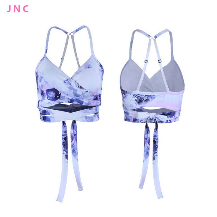 Women's Low Support Tie Sports Bra Ideal For Hot Yoga Long Line Strappy wrap crop Yoga Top Sports Bra for Dance New Activewear *** You can get more details by clicking on the image.