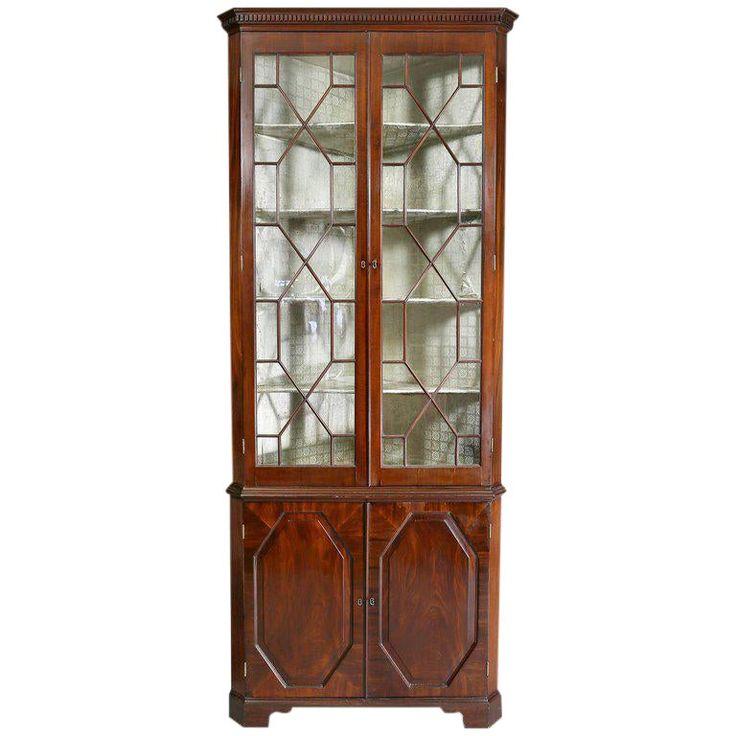 George III Mahogany Corner Cabinet | Cabinet, Cabinets for ...