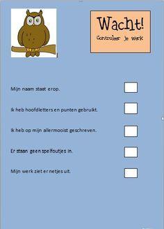 Onderwijs en zo voort ........: 1547. (Zelf)evaluatie : Voor het werk inleveren