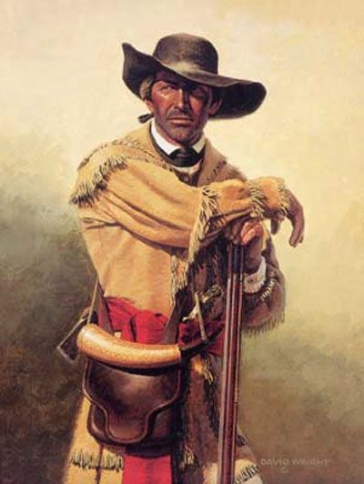 """(Scots-Irish) """"Call this war by whatever name you may, only call it not an American rebellion:  it is nothing more or less than a Scotch-Irish Presbyterian rebellion."""" - A Hessian Officer writing home during the war of the American Revolution.  (pic of an American Revolutionary War Rifleman - David Wright Art)"""