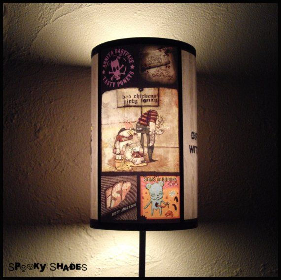 Punk Rock Lamp Shade Lampshade  rock n roll decor by SpookyShades on Etsy