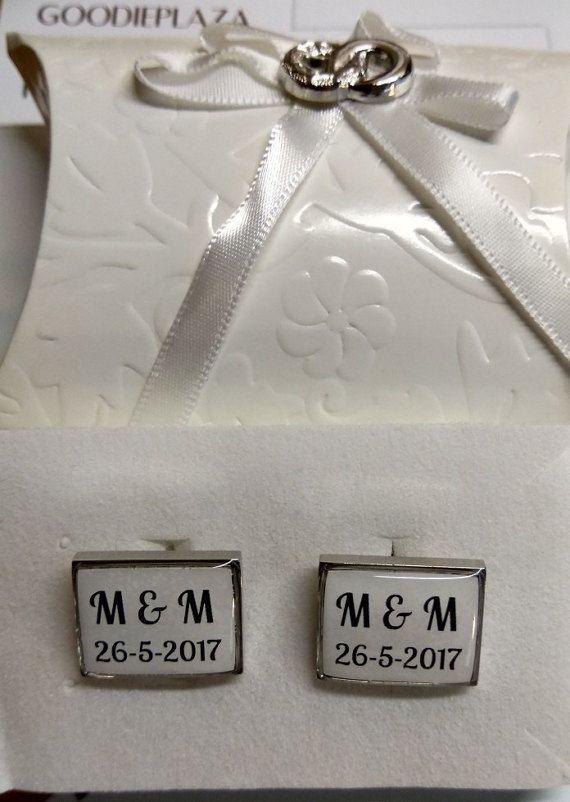 Gepersonaliseerde manchetknopen voor jullie bruiloft /