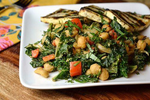 Cosmic Cashew Kale with Chickpeas #vegan: Food Recipes, Vegan Carascravings, Carascravings Chickpeas, Chickpeas Kale, Kale Cashew, Cosmic Cashew, Chickpea Salad, Cashew Kale