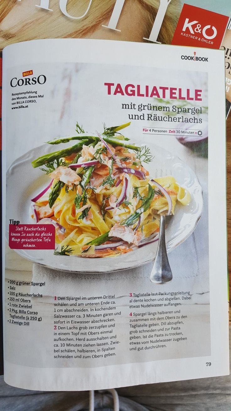 Lachs Spargel Nudeln