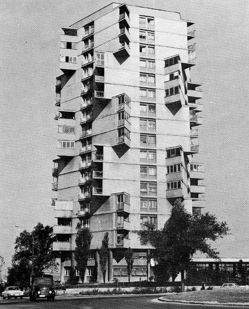 Rista Sekerinski -Residential tower in Karaburma  (1963)